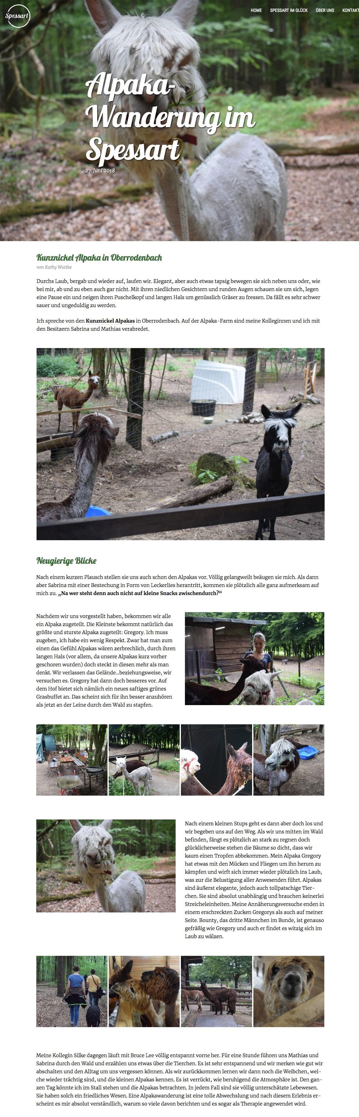 "Featured image for ""Alpakawandern im Spessart"""